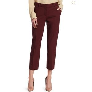 [Theory] Treeca 2 Maroon Wool Skinny Crop Pants